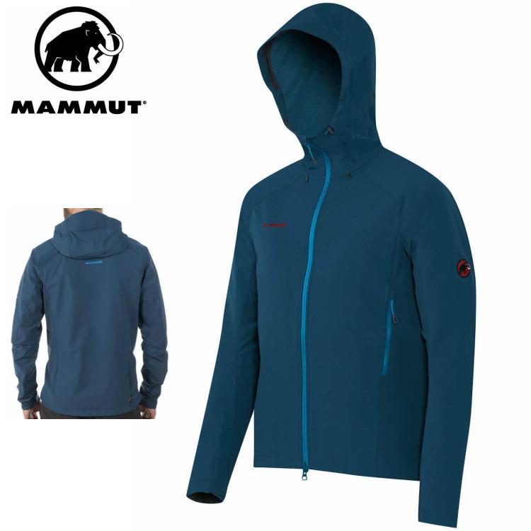 MAMMUT マムート ベース ジャンプ SO フーデッド ジャケット メンズ Base Jump SO Hooded Jacket Men 5325/orion 1010-21670■アウトドア 登山 ソフトシェル