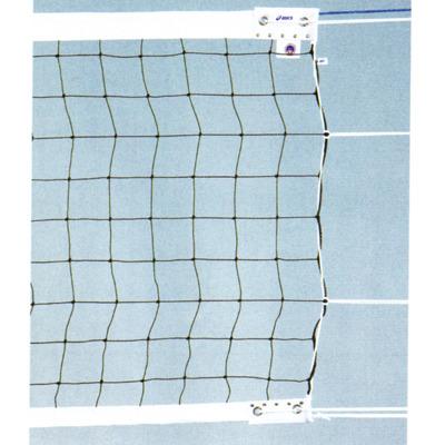 ■送料無料■▼asics▼アシックス 28121K 6人制バレーボールネット検定AA級 国際バレーボール連盟のルール改正にともなった上部白帯7cm巾、下部白帯5cm巾の新規格バレーネット[シリーズ:バレーボールネット]