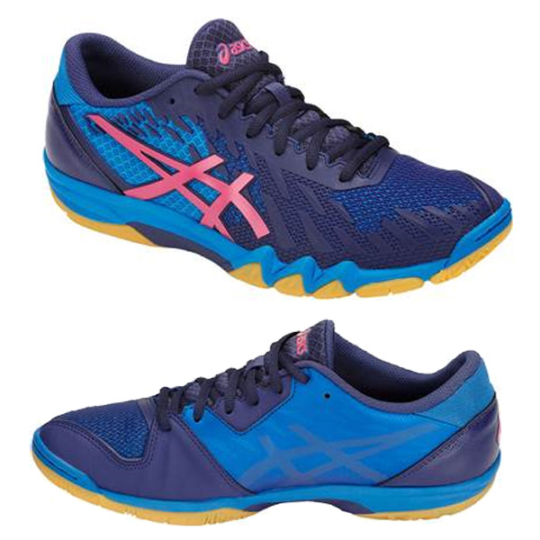 najtańszy kupować nowe najlepszy dostawca ASICS table tennis shoes 1073A001-0400 ATTACK BLADELYTE 4/ attack blade  light 4 [indigo blue / pink] [series: table tennis shoes]