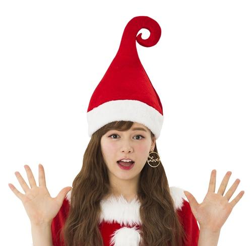 大規模セール 商品 ウィッチサンタハット クリスマス?ハロウィン ?先がくるっと丸くなった魔女風サンタ帽 ハリのある素材でピンと立つので誰よりも目立っちゃうこと間違いなし クリスマス コスプレ用品 サンタクロース
