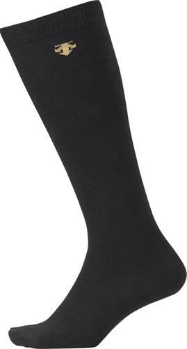 全国どこでも送料無料 スポーツ靴下 メンズ 男性 男女兼用 DESCENTE デサント C8700-BLK カラーソックス ブラック 練習 長いソックス プラクティス 年度:20SS 部活動 ソフトボール クラブ活動 国際ブランド 野球 ロングソックス