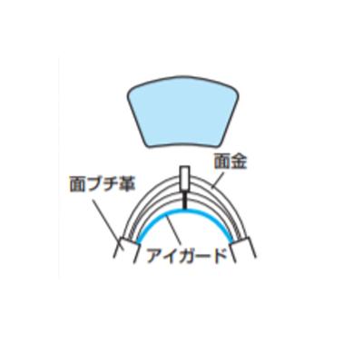 【クザクラ】九櫻(九桜) KIS 剣道面用 アイガード(少年用)