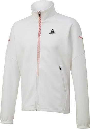 ■送料無料■【le coq sportif】ルコック QTMNJF40-WHT スウェットジャケット [ホワイト] 【テニススウェット/テニス長袖/男女兼用】