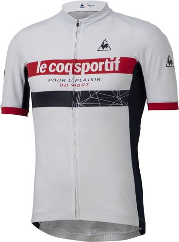 ■送料無料■【le coq sportif】ルコック QCMPGA45-WHT ENDUR JERSEY BASIC[ホワイト] [半袖ジャージ/プラクティス/練習着/移動着/サイクリング/自転車/部活動/クラブ活動] 年度:20SS