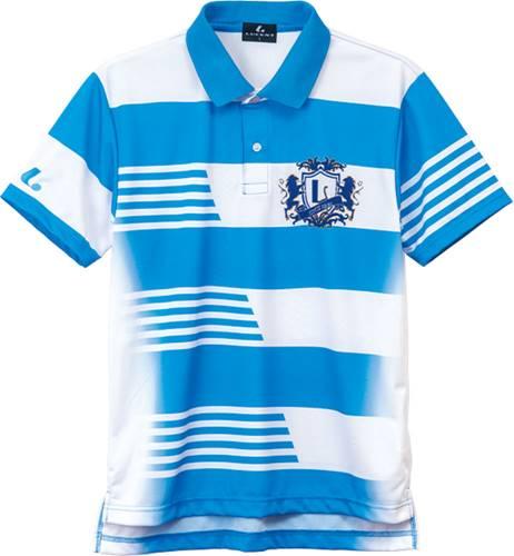 【LUCENT】ルーセント XLP8307 ユニセックス/男女兼用 ゲームシャツ ブルー [ブルー] 【テニス/ゲームシャツ】 年度:19SS