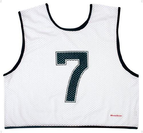 【MIKASA】ミカサ GJH10W ゲームジャケット ハーフタイプ10枚セット ホワイト [マルチスポーツ][グッズ・その他]年度:14
