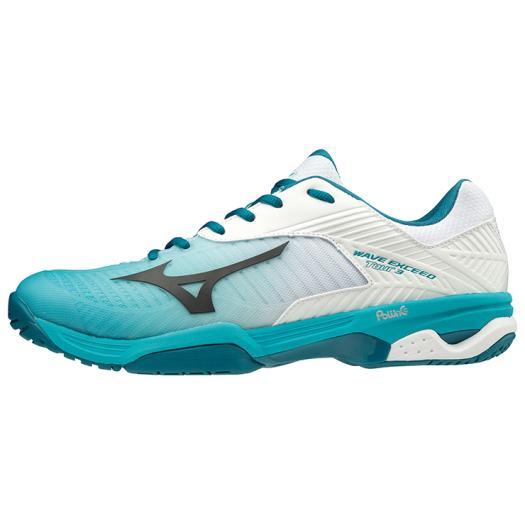 ◆MIZUNO◆ミズノ 61GB1872-35 WAVE EXCEED TOUR3 OC ウエーブエクシード TOUR 3 OC[ホワイト×ブラック×ターコイズ]コートを支配するにはこの1足!軽くて速いTOURモデル。【テニス】オムニ・クレーコート用/靴/テニスシューズ/トレーニング