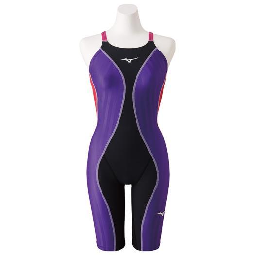 ◆MIZUNO◆ミズノ N2MG9430-97 FX・SONIC+ ハーフスーツ ジュニア[ブラック×ローズ] 【水泳】競泳水着/競泳/水泳/スイミング/レディース/ジュニア/ジュニアサイズ