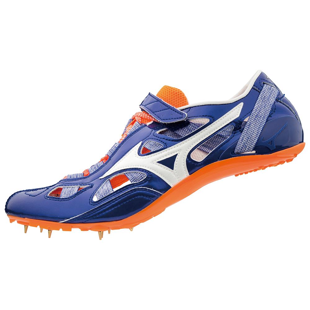 ■送料無料■◆MIZUNO◆ミズノ U1GA1901-01 CHRONO INX 9 [ブルー×ホワイト×オレンジ] 最速を追求して22年。スムーズな重心移動を可能にする高速設計。  【陸上・ランニング】シューズ/靴/陸上/スパイク