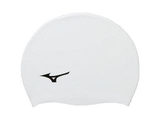 水泳 帽子 MIZUNO ハイクオリティ ミズノ N2JW8040-01 スイミング ホワイト キャップ 正規品 スイム シリコーンキャップ