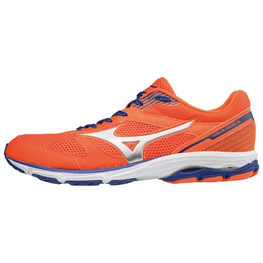 ◆MIZUNO◆ミズノ J1GA1736-03 WAVE AERO 16 WIDE[オレンジ×シルバー×ブルー]ステップアップの代名詞。軽さとクッションのバランス。【陸上・ランニング】シューズ/靴/ランニングシューズ/マラソン/トレーニング