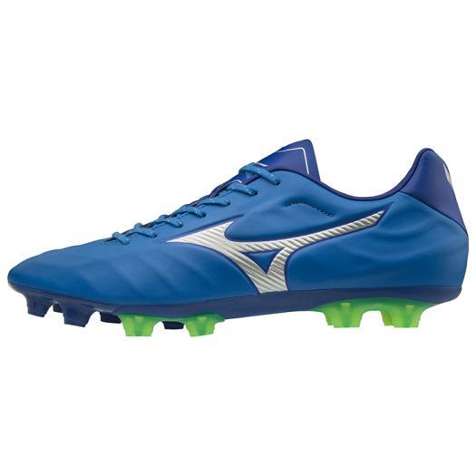 ◆MIZUNO◆ミズノP1GA1884-03 レビュラ V2 SL[ブルー×シルバー]革新で挑む。フィット、軽量性をバランス良く併せ持った、マイクロファイバー採用のミドルモデル。【フットボール】/靴/シューズ/サッカー