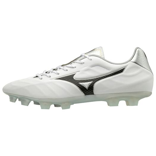 ◆MIZUNO◆ミズノP1GA1884-09 レビュラ V2 SL[ホワイト×ブラック×シルバー]革新で挑む。フィット、軽量性をバランス良く併せ持った、マイクロファイバー採用のミドルモデル。【フットボール】/靴/シューズ/サッカー