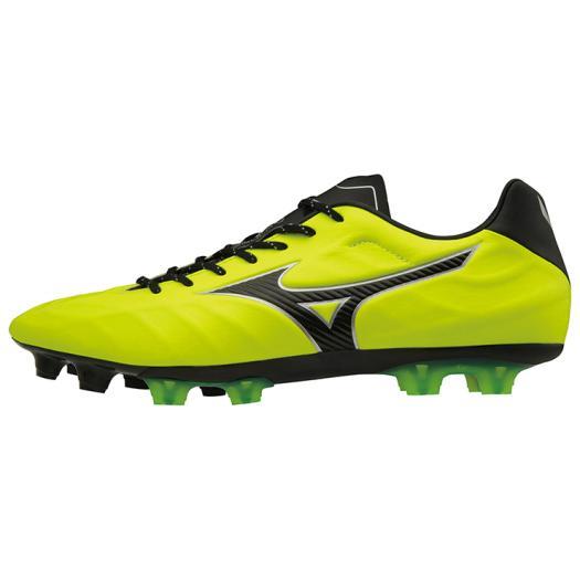 ◆MIZUNO◆ミズノP1GA1884-45 レビュラ V2 SL[イエロー×ブラック]革新で挑む。フィット、軽量性をバランス良く併せ持った、マイクロファイバー採用のミドルモデル。【フットボール】/靴/シューズ/サッカー