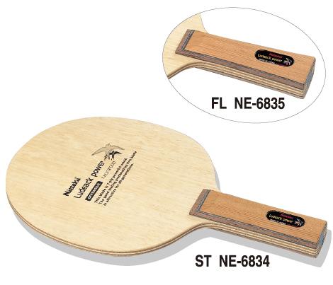 【Nittaku】ニッタク ルデアックパワー ST(ストレート) NE-6834 7枚合板パワフルプレー【卓球用品】シェークラケット