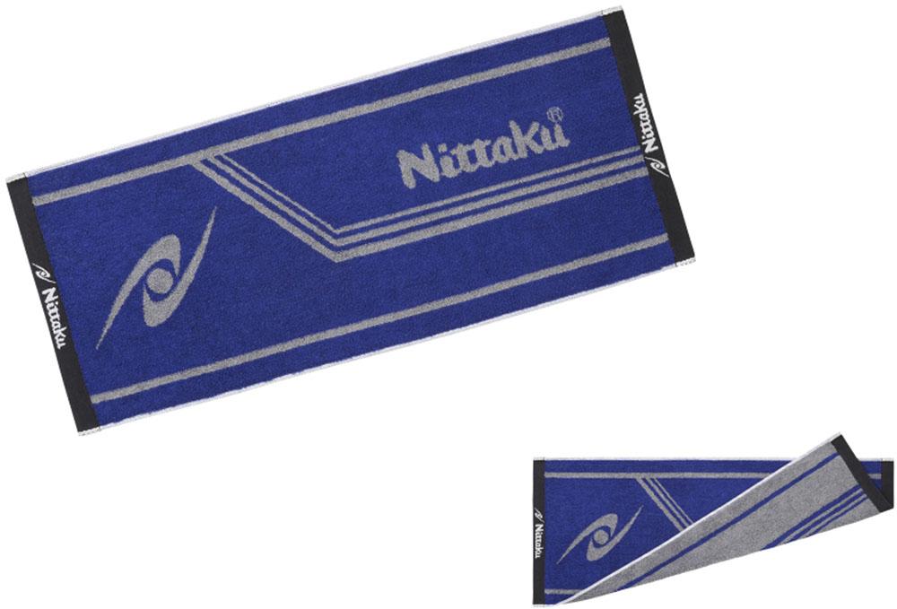 卓球用タオル 卓球 爆買いセール タオル Nittaku ニッタク ブルーXグレー NL-9234-LM1 新品 送料無料 バンド類 ラインミッドタオル 卓球用品