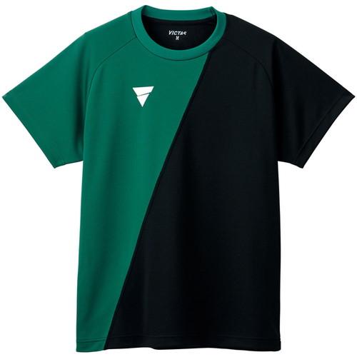 卓球 ユニフォーム ユニホーム 卓球ユニフォーム VICTAS ヴィクタス 532101-4110 BG V-TS230 BK ブラック ビリヤードグリーン 割り引き 人気の製品 卓球用品 トレーニングシャツ