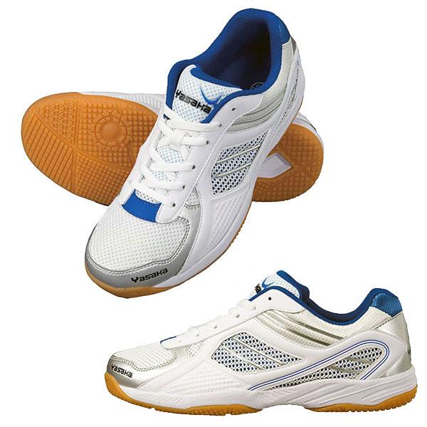 卓球シューズ 即納 あす楽 33%OFF 数量限定特価セール品 Yasaka ヤサカ E-200-60 ジェットインパクト 在庫あり 超歓迎された 卓球 抜群のグリップ力でフットワークをフルサポート 安全性に優れ 靴 卓球用品 ブルー 耐久性 シューズ