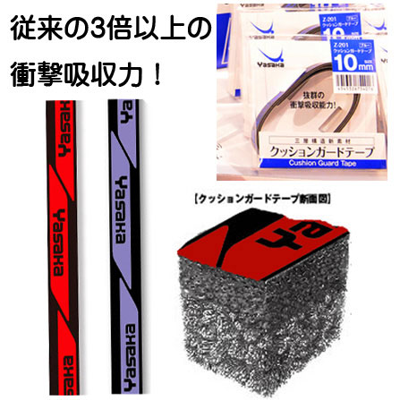 卓球 卓球ラケット ラケットサイドテープ 即納 あす楽 Yasaka ヤサカ 市販 Z-201 安い 激安 プチプラ 高品質 メンテナンス サイドテープ 卓球用品 12mm クッションガードテープ 10mm ラベンダー レッド