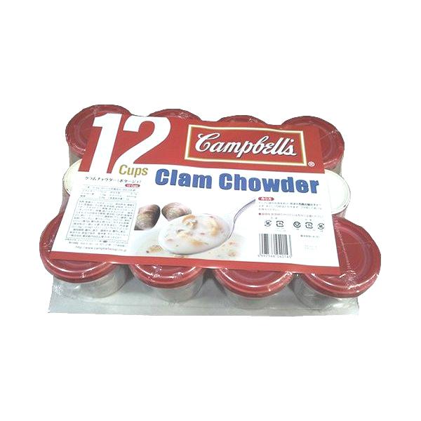 お徳用 Campbell's 開店記念セール キャンベル クラムチャウダーポタージュ 好評受付中 カップスープ 20.3g×12個入り 541673