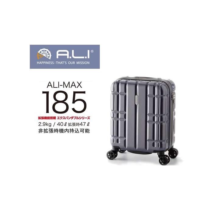 ALI 機内持込 アリマックス ALI-MAX185 アジアラゲージ ALI 40L 47L 拡張 機内持ち込み キャリー 機内持ち込み スーツケース ( 海外旅行 キャリーケース おしゃれ バッグ キャリーバッグ ケース スーツ キャリーバック 機内持込 ダブルキャスター 1泊 2泊 出張用 ビジネス SS サイズ 旅行 旅行カバン ), フランスワイン専門WELL GRAND CRU:8ae1fd86 --- sunward.msk.ru