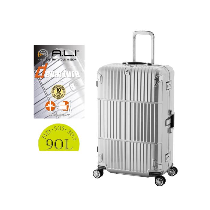 ALI ディパーチャー HD-505-30.5 アジアラゲージ 90L ビジネスキャリー スーツケース ( かわいい キャリーケース おしゃれ 海外旅行 キャリーバッグ バッグ キャリー スーツ ケース 出張用 キャリーバック tsaロック ダブルキャスター ビジネス departure バック L サイズ )