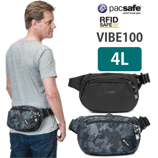 pacsafe パックセーフ VIBE 100パックセーフ バイブ 100ウエスト ボディ バッグ 旅行用品旅行SqpzMVU