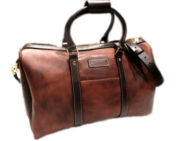 科罗纳多皮革 (Coronado) / 棕色 /VEG 谭皮革行李袋 # 5 w/表带 (vegetanrezarduffle 袋)