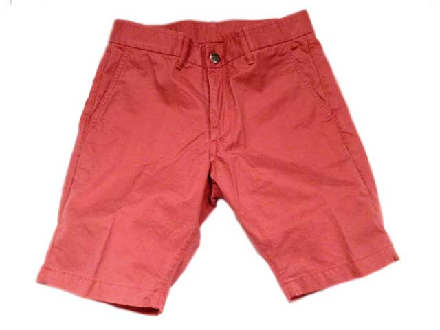 GROWN & SEWN(グロウン&ソーン) /INDEPENDENT SLIM SHORTS TWILL(ツイルショーツ)/faded red