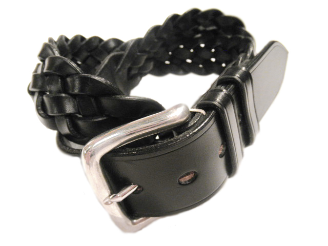 JASPER HIGHET(ジャスパーハイト)/BRIDLE LEATHER MESH BELT/black