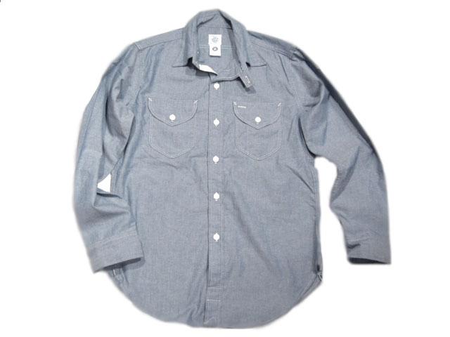 張貼的工作服 (張貼工作服) 和 # 1268年非常李南紡襯衫/靛藍