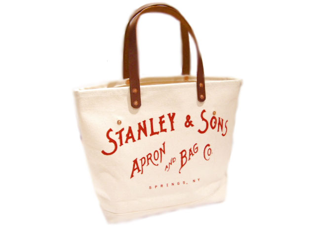 STANLEY & SONS (スタンレー&サンズ)/STANDARD LOGO TOTE(S) MADE IN U.S.A.(トートバッグ)/natural x red