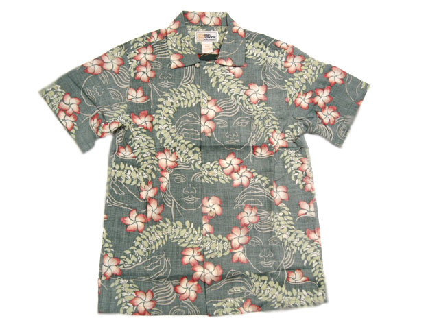 REYN SPOONER(レインスプーナー)GOLD LABEL/RAYON HAWAIIAN SHIRTS/LEI LADY LEI/green