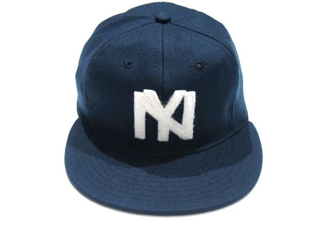 EBBETS FIELD (Ebbets field)  VINTAGE BASEBALL CAP 1935 New York Black  Yankees navy cf5586c49cb