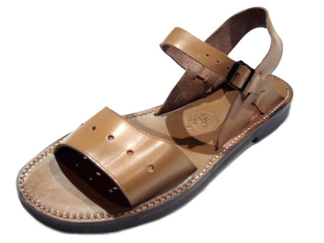 法国军队皮革凉鞋 (法国军队凉鞋) /tan