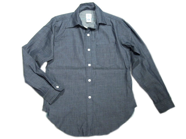 POST OVERALLS(ポストオーバーオールズ)/#2212 THE POST3 SOFT DENIM SHIRTS/indigo