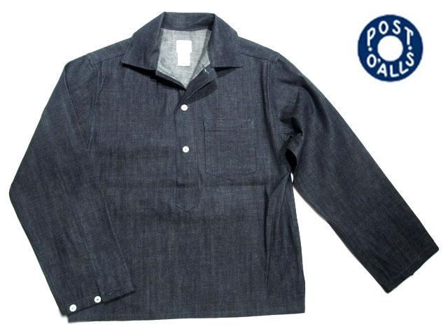POST OVERALLS(ポストオーバーオールズ)/#1204R2 10oz JAPAN DENIM CRAFT MASTER1 SHIRTS/indigo