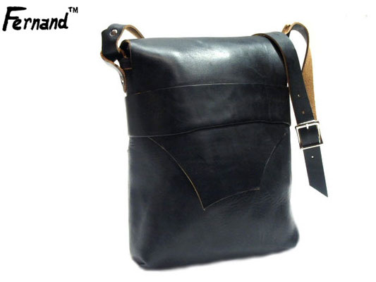 FERNAND LEATHER(フェルナンドレザー)/KELLY POUCH(large) hand made in U.S.A./black