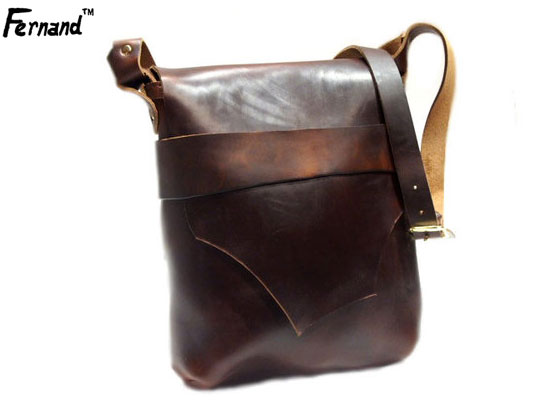 FERNAND LEATHER(フェルナンドレザー)/KELLY POUCH(large) hand made in U.S.A./brown