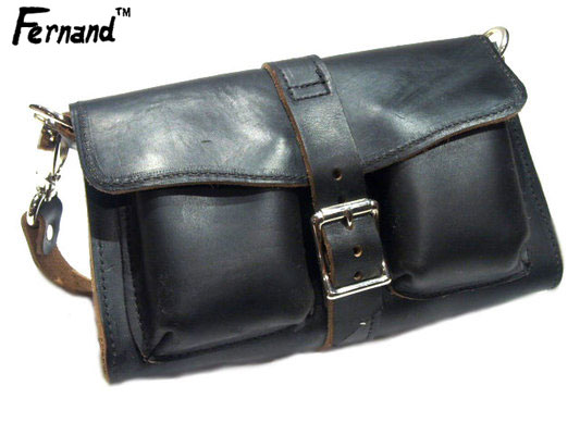 FERNAND LEATHER(フェルナンドレザー)/3 POCKET PURSE hand made in U.S.A./black