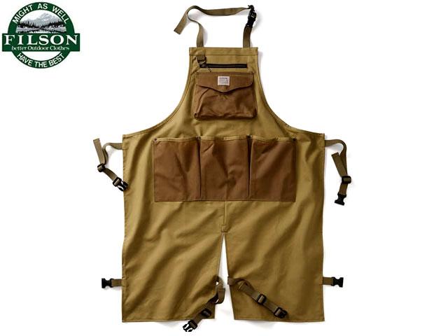 FILSON(フィルソン)/TIN CLOTH UTILITY APRON(ティンクロスユーティリティーエプロン)/dark tan