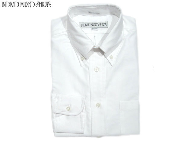 INDIVIDUALIZED SHIRTS(インディビジュアライズド シャツ)/L/S STANDARD FIT B.D. GREAT AMERICAN OXFORD SHIRTS(オックスフォードボタンダウンシャツ)/white