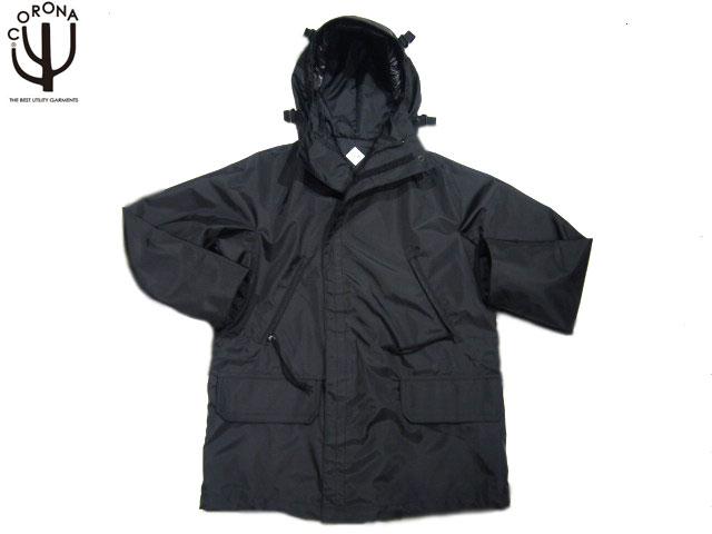 CORONA(コロナ)/#CJ022-18-01 NYLON OX 3 LAYER LAMINATE FOUL WEATHER PARKA/black