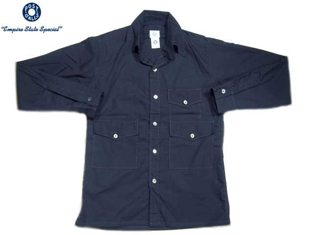 POST OVERALLS(ポストオーバーオールズ)/#1231L TOWN & COUNTRY COTTON BROADCLOTH SHIRTS/navy