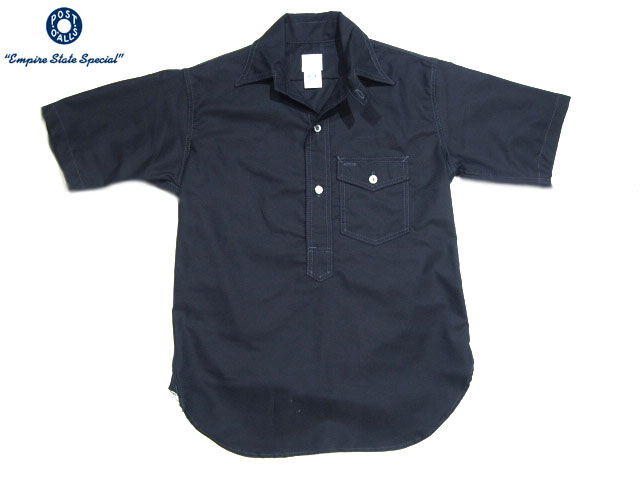 POST OVERALLS(ポストオーバーオールズ)/#1263S C-POST4 S/S PULLOVER OXFORD SHIRTS/navy