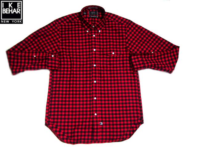 IKE BEHAR (アイクベーハー)/#MF1501LB FREED0M FIT L/S B.D SMALL BUFFALO CHECK FLANNEL SHIRTS/red x black