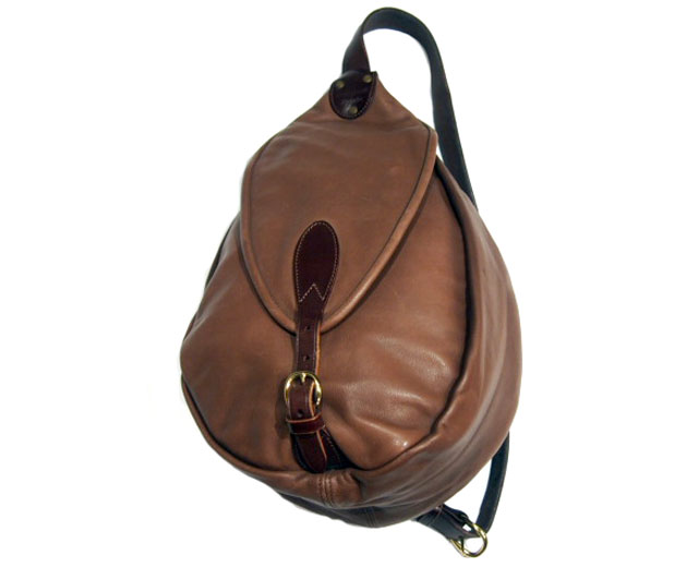 MARK HONORE(マーク・オノレ)/ COW HIDE LEATHER SWAGGY BAG(スワギーバッグ)/brown