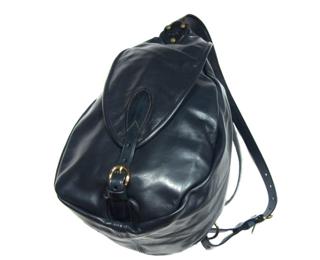 MARK HONORE(マーク・オノレ)/ KANGAROO LEATHER SWAGGY BAG(スワギーバッグ)/navy