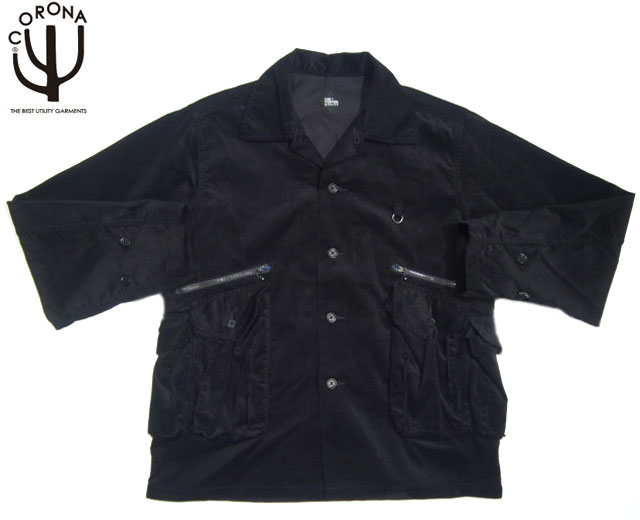 CORONA(コロナ)/#CS092-19-03 6 POCKET CORDUROY JAC SHIRT/black