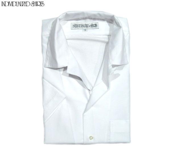 INDIVIDUALIZED SHIRTS(インディビジュアライズド シャツ)/SHORT SLEEVE ATHLETIC FIT CAMBRIDGE OXFORD CAMP COLLAR SHIRTS(半袖シャツ)/white